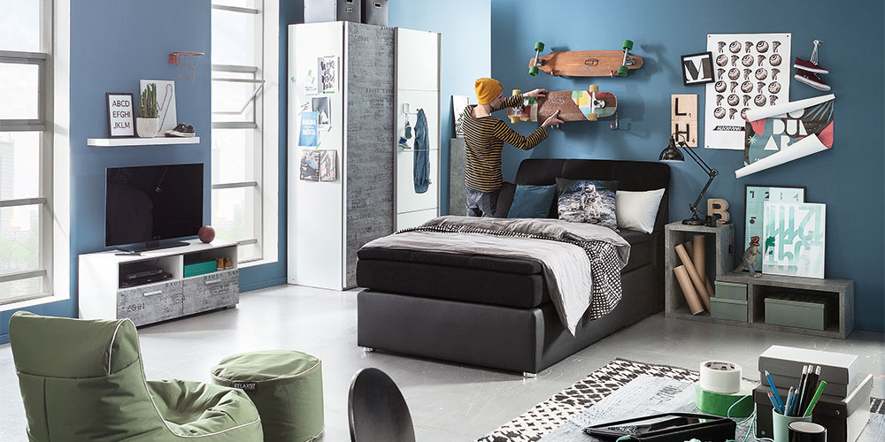 set 2 colori in weiss und glas blau grau 75. Black Bedroom Furniture Sets. Home Design Ideas