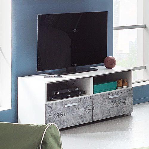 Tv Kommode Vintage Optik Grau Möbel Rundel